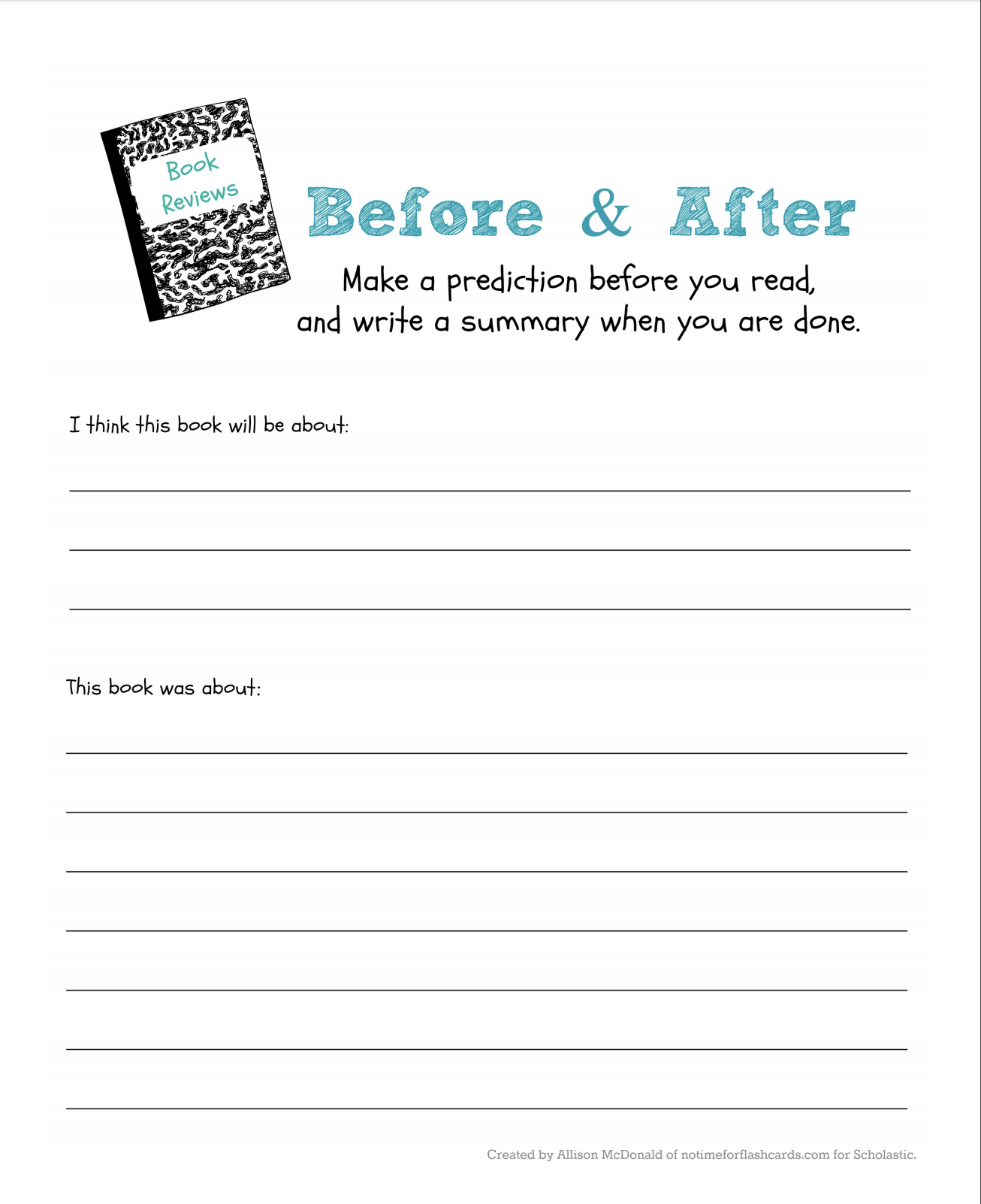 Have your child put a new twist on an old adage with this critical thinking printable activity before opening a new book.