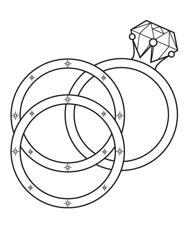 Wedding rings free printable coloring pages