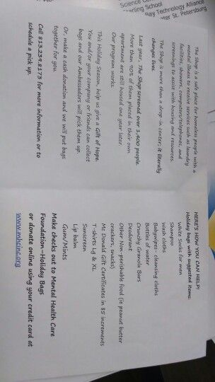 Mental Health Care Foundation Donation List Local Non Profit