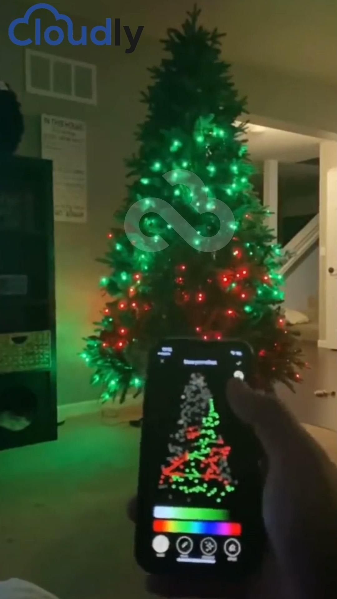 Customize Your Christmas Tree From Your Phone Video In 2020 Cute Room Decor Christmas Deco Christmas Bedroom