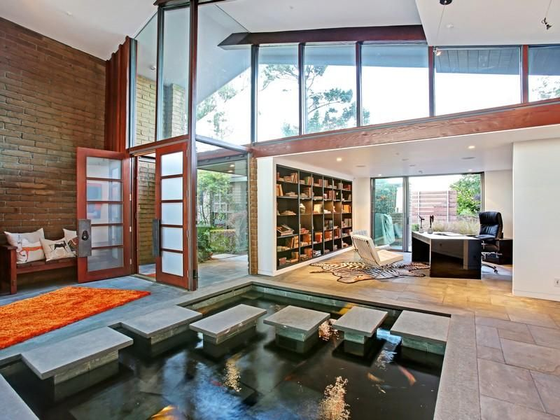 Sophisticated Sausalito Contemporary 5 380 000 Indoor Pond
