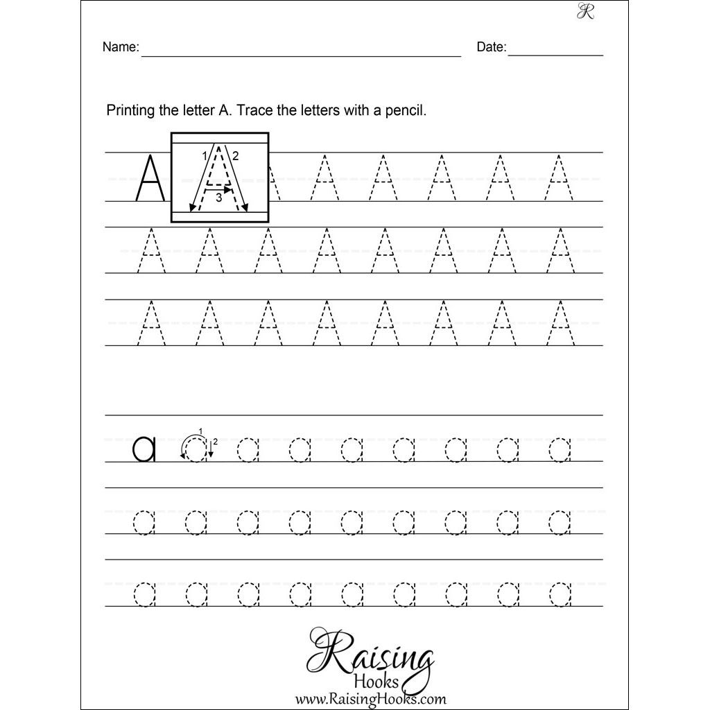 Tracing Each Letter A Z Worksheets In