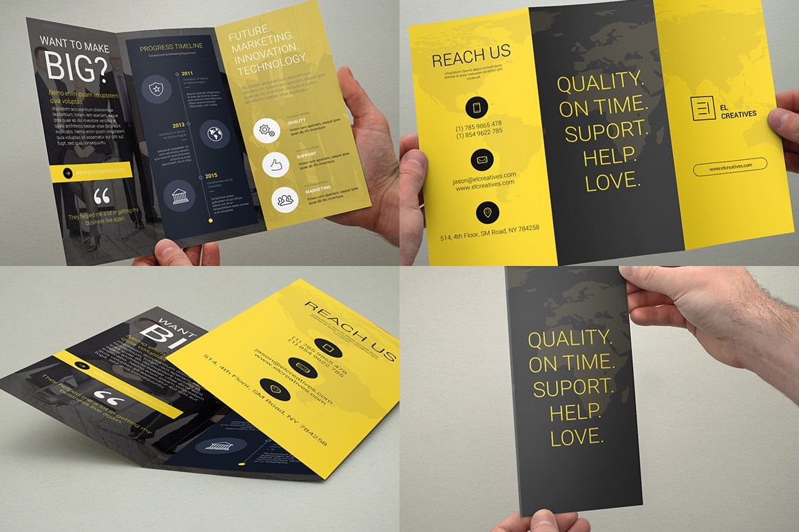 Bundle - Trifold Brochures - 3 in 1 by bouncy on @creativemarket