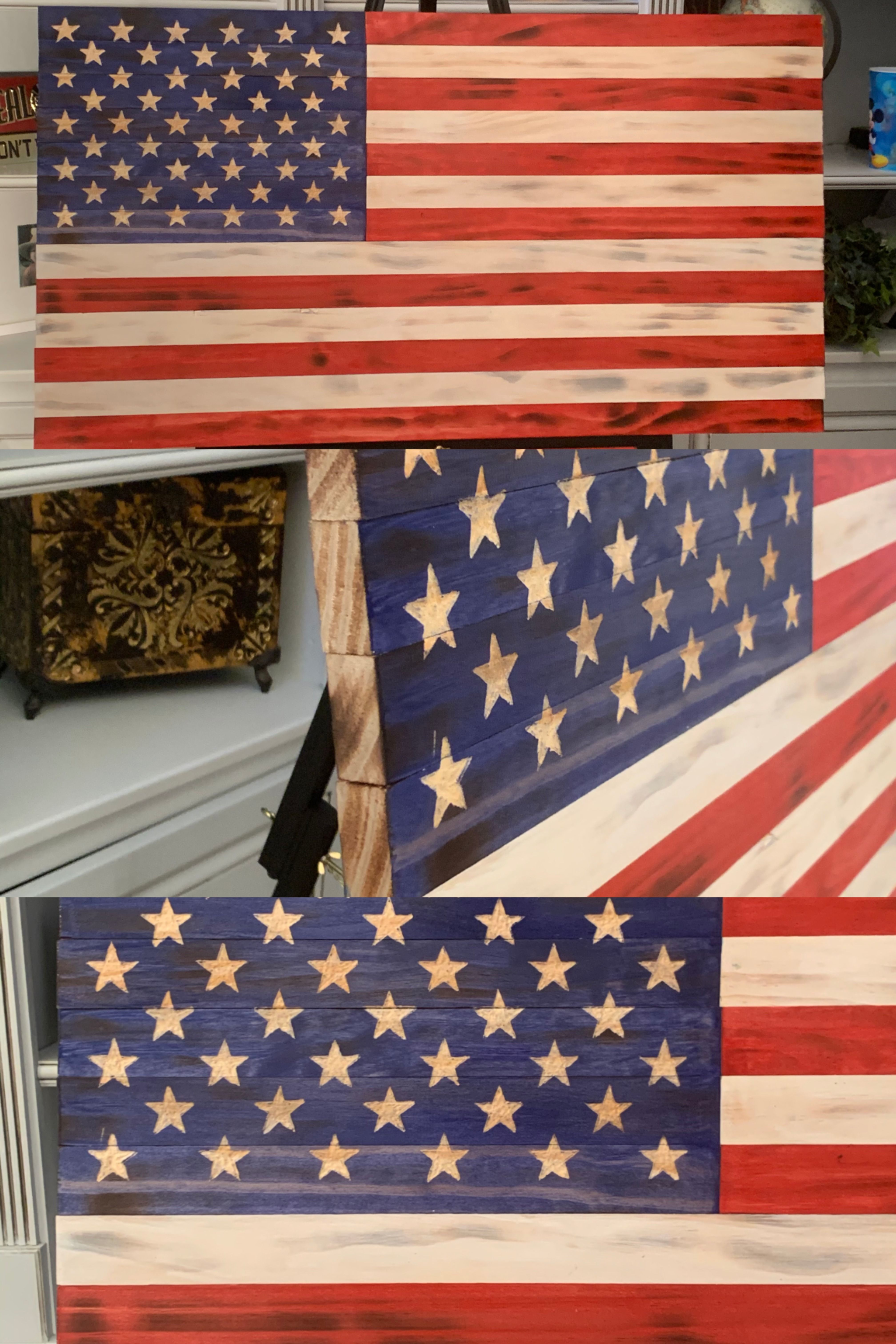 Handmade Wooden American Flag Hand Carved America Flag Etsy Wooden Flag American Flag Wall Art Wooden American Flag