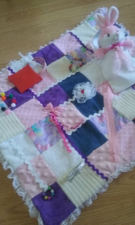 Senior Activity Blanket Lap Quilt Fidget Blanket Sensory