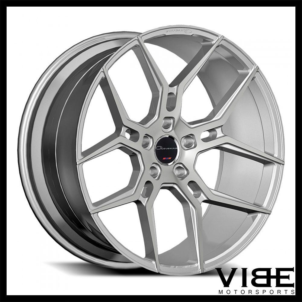20 giovanna haleb silver concave wheels rims fits chevrolet camaro ls lt ss giovanna