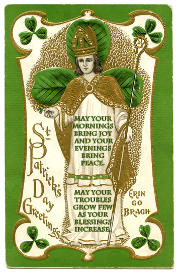 From my blog about Irish Wedding Blessings. St patricks