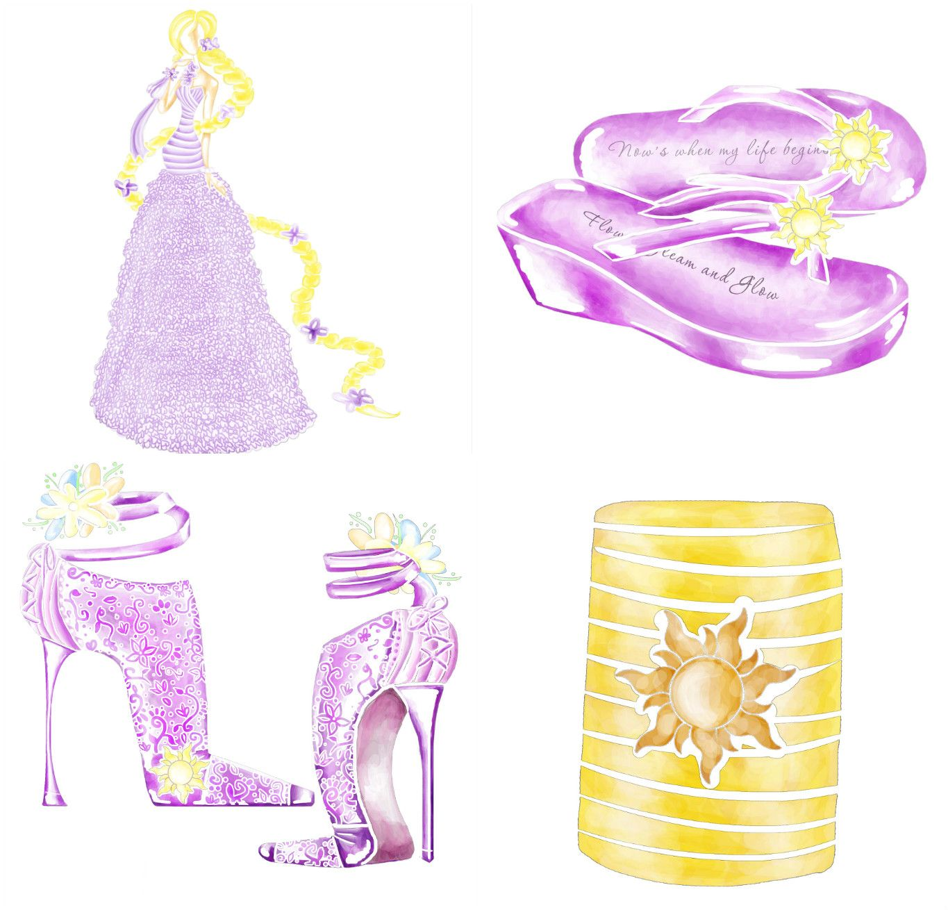 Dream big with a Rapunzel inspired reception for your Disney\'s Fairy ...