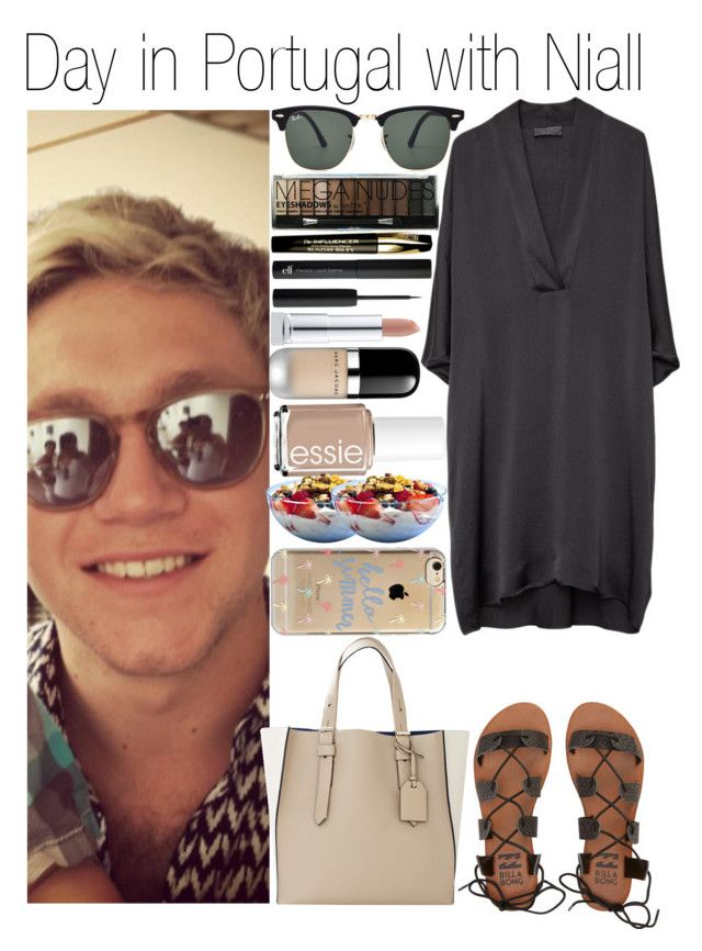 """""""• Day in Portugal with Niall"""" by dianasf ❤ liked on Polyvore featuring Billabong, Reed Krakoff, Ray-Ban, Agent 18, Essie, Boohoo, Sunday Riley and NiallHoran"""