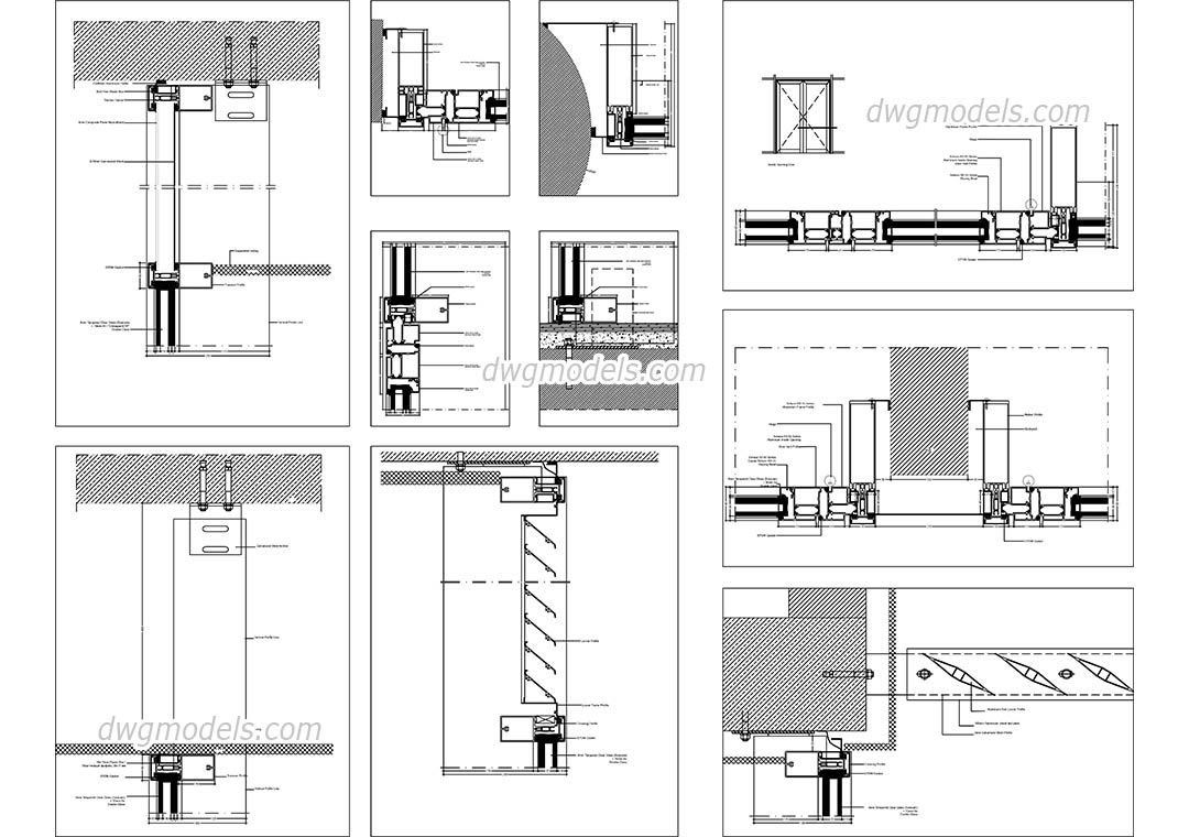 glass wall systems details