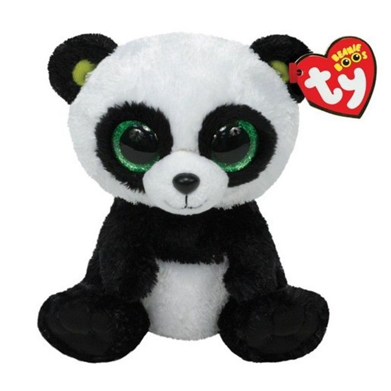ff353bc6dcc Ty Panda Plush Toy 16 cm TY Beanie Boos Big Eyed Stuffed Animals Bamboo  Panda Kids Plush Toy For Children Gifts 15CM Ty toys
