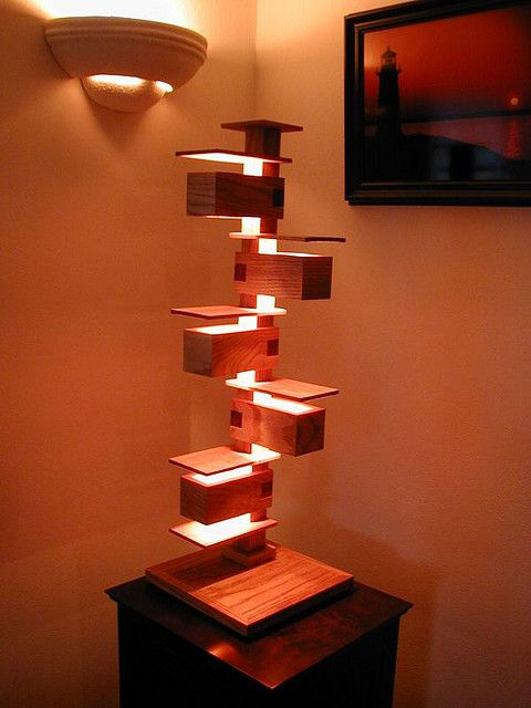 Great Frank Lloyd Wright Style Lamp This Is My Adaptation Of A Frank Lloyd Wright  Light Design