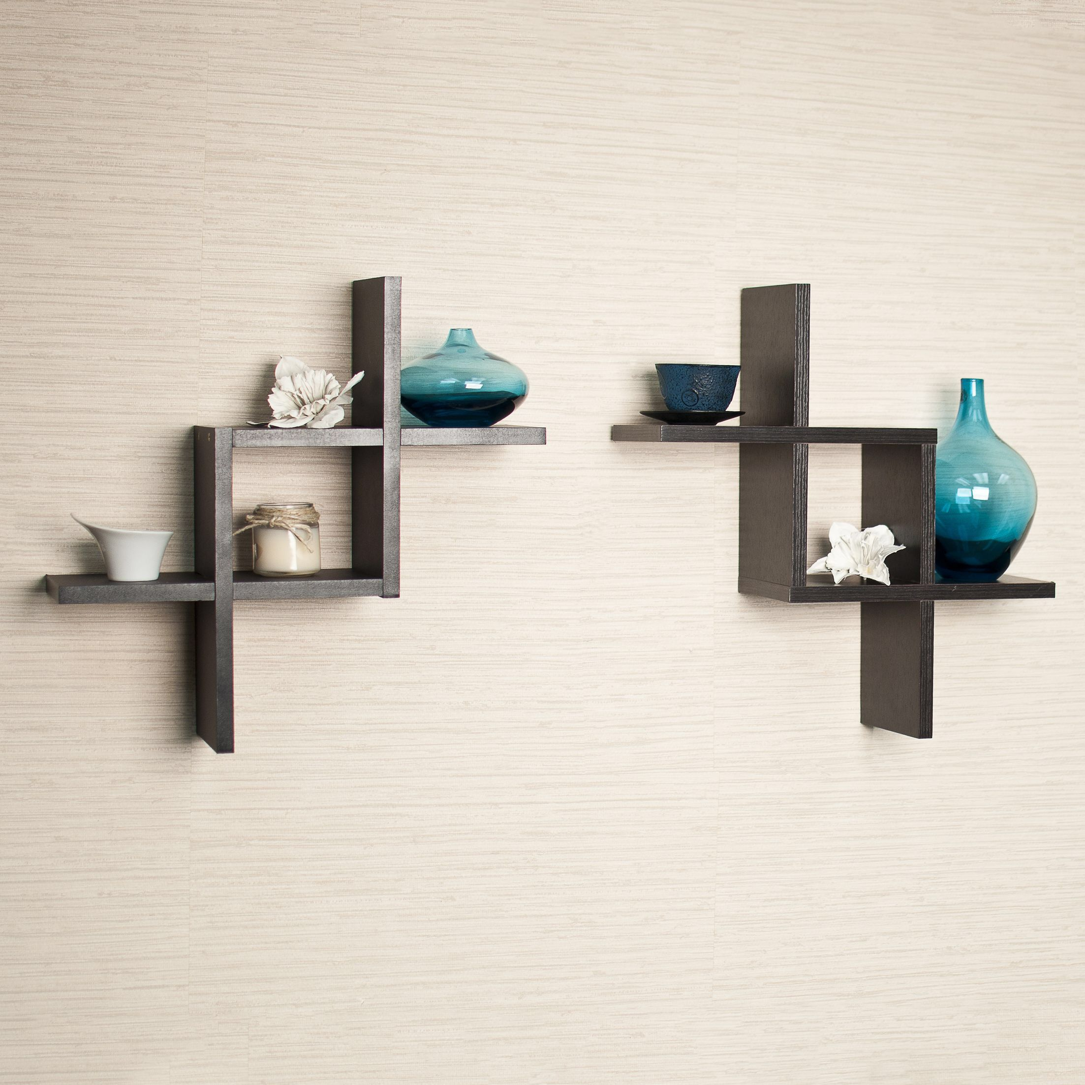 Reversed Criss Cross Wall Shelf