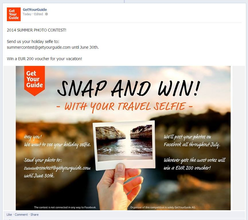 Facebook like contest examples