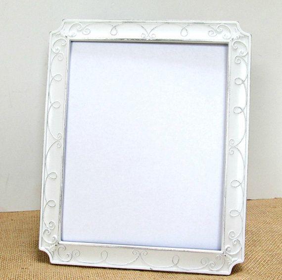 White Frame Vintage Silver Wedding 8x10