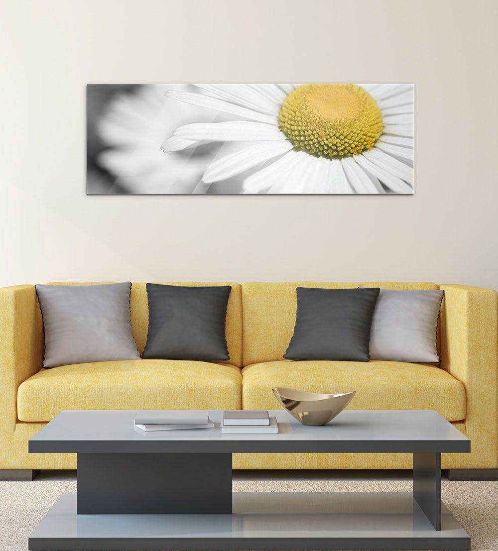 ♥ Wandbild Wohnzimmer Weiße Gerbera Blume ✿ #wandbild #glasbild ...