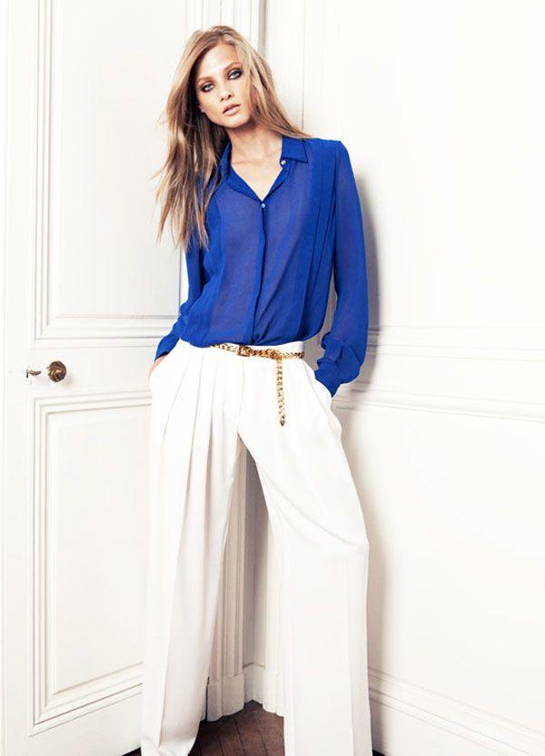 Pantalones Palazzo Blanco 219db132c7d