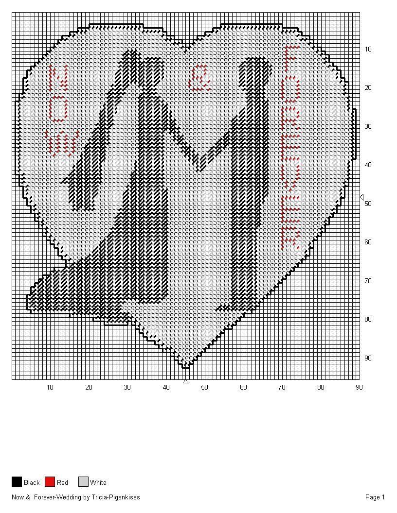WEDDING HART SILHOUETTE   plastic canvas   Pinterest   Silhouettes ...