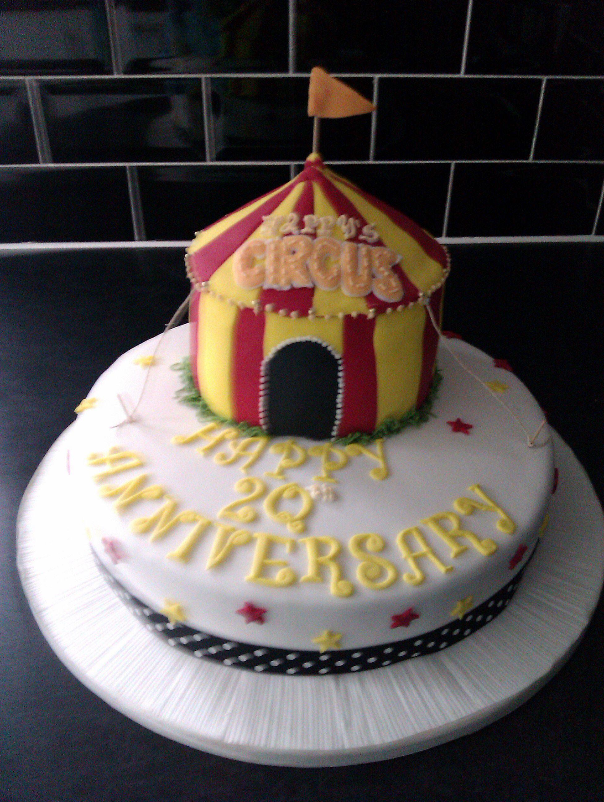 Happy's Circus anniversary cake