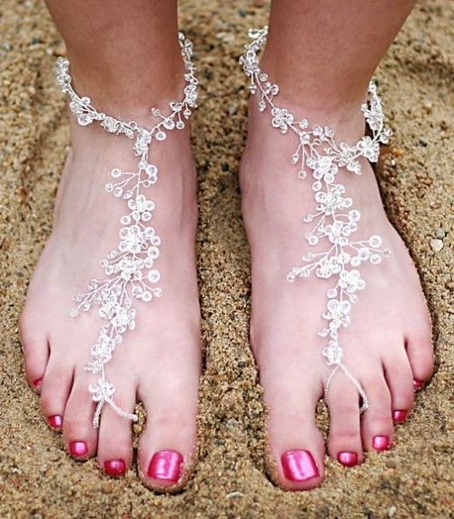 33 Cool Beach Wedding Sandals Barefoot And Not Only