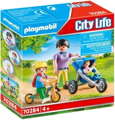 PLAYMOBIL City Life 70284 : Maman avec enfants