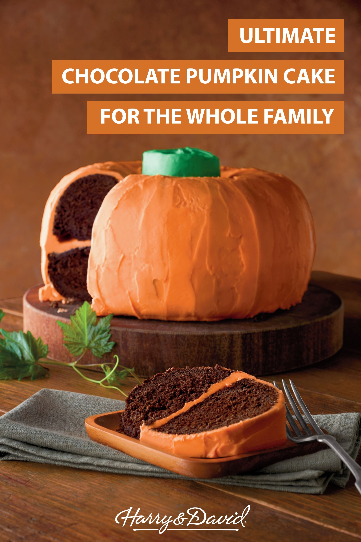 Pumpkin-Shaped Chocolate Cake