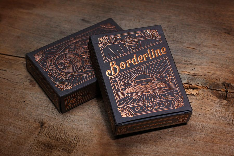 Borderline Playing Cards by Traina Design via http://www.mr-cup.com ...