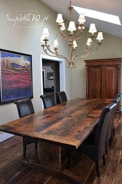 Kijiji Wood Slab Table Reclaimed Wood Table Table