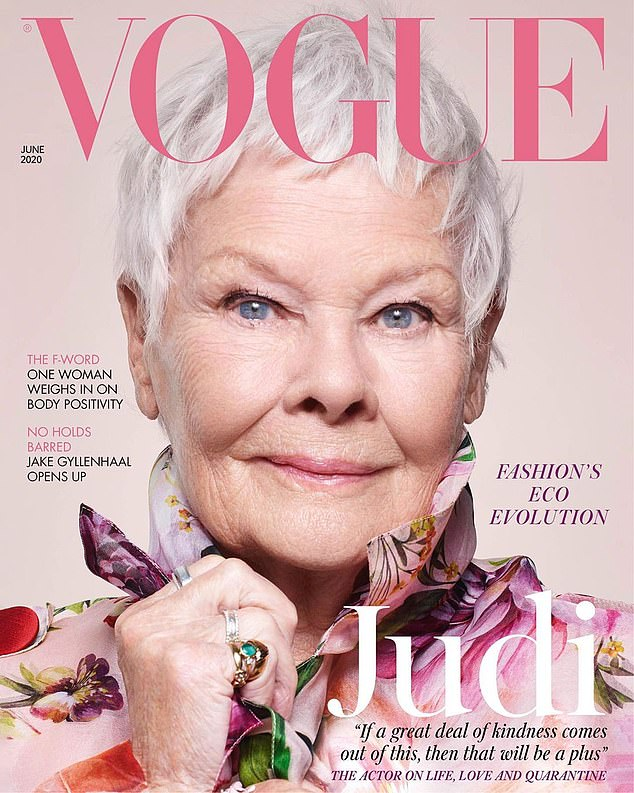 Photo of Dame Judi Dench on the cover of Vogue — That's Not My Age
