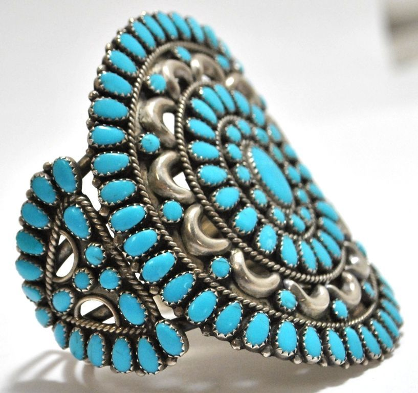 navajo and turquoise silver pcs jewelry lot bracelet morenci item