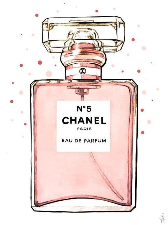 Photo of Chanel art, Chanel print, Chanel perfume art, Chanel illustration, fashion illustration, Chanel wall art