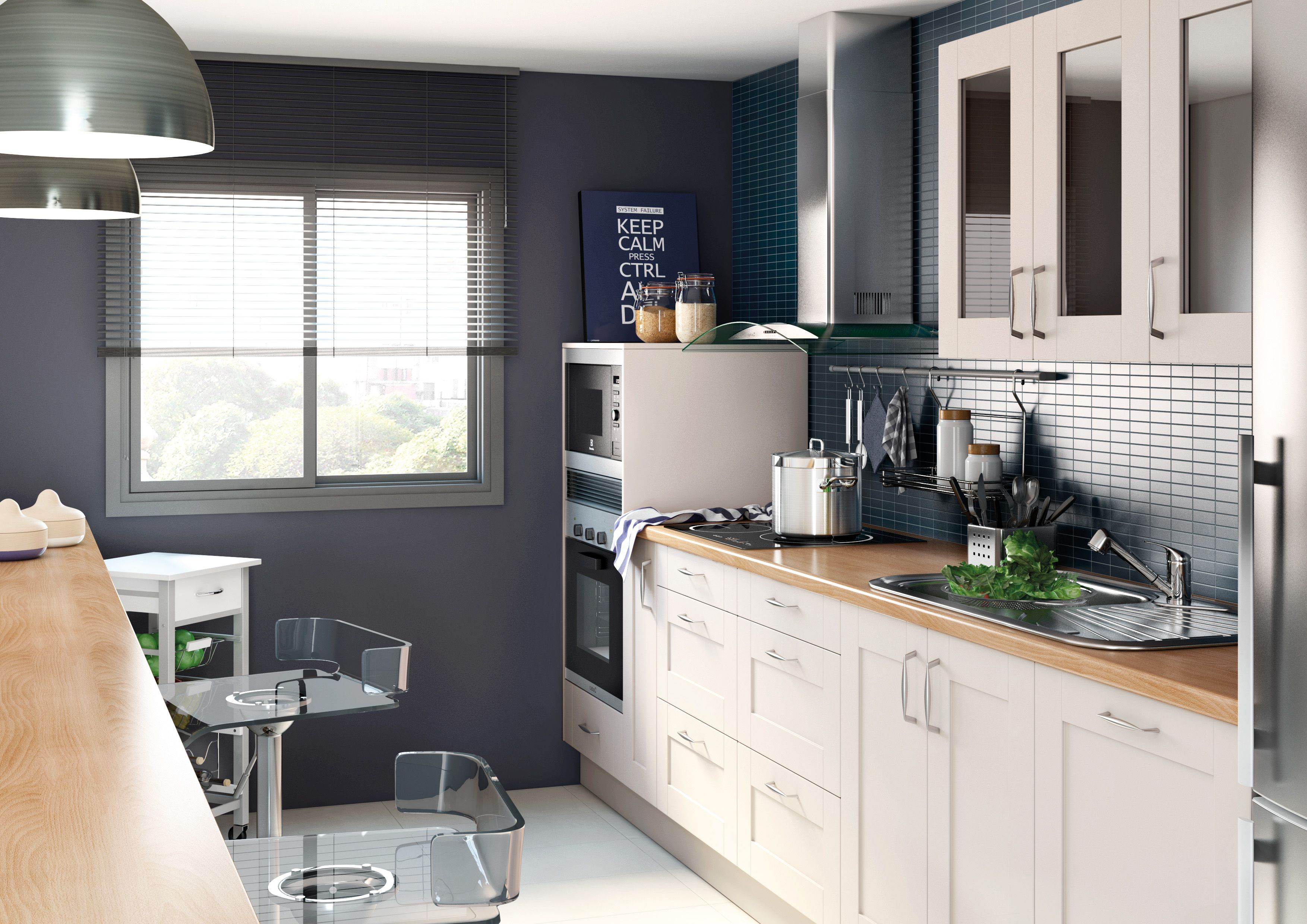 Una #cocina única, práctica y funcional. #leroymerlin #cocinas ...