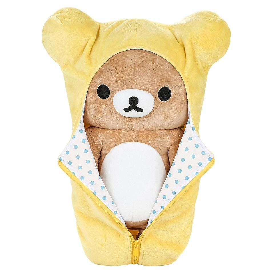 Rilakkuma Sleeping Bag Bear Plush Toy In Yellow - The Rilakkuma Sleeping Bag Bear Plush Toy is the perfect cuddle buddy for your little one. Constructed of premium plush materials, this toy is stuffed for maximum comfort and is shaped like an adorable bear in a sleeping bag.