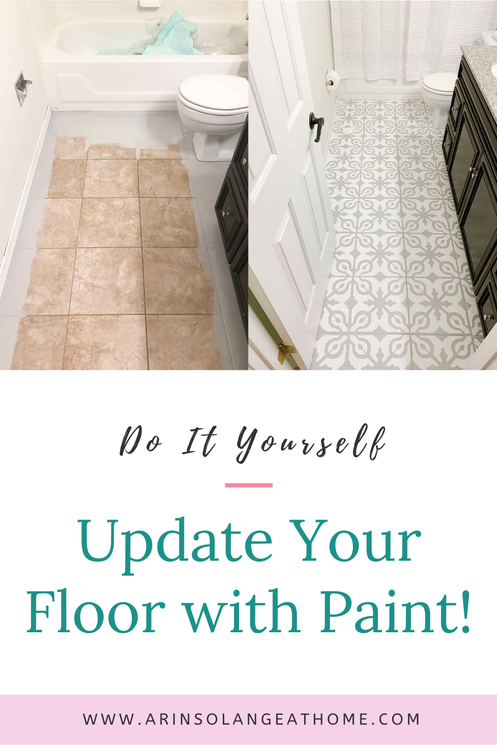 How To Paint Tile Floors In 2020 Painting Tile Painting Tile Floors Flooring