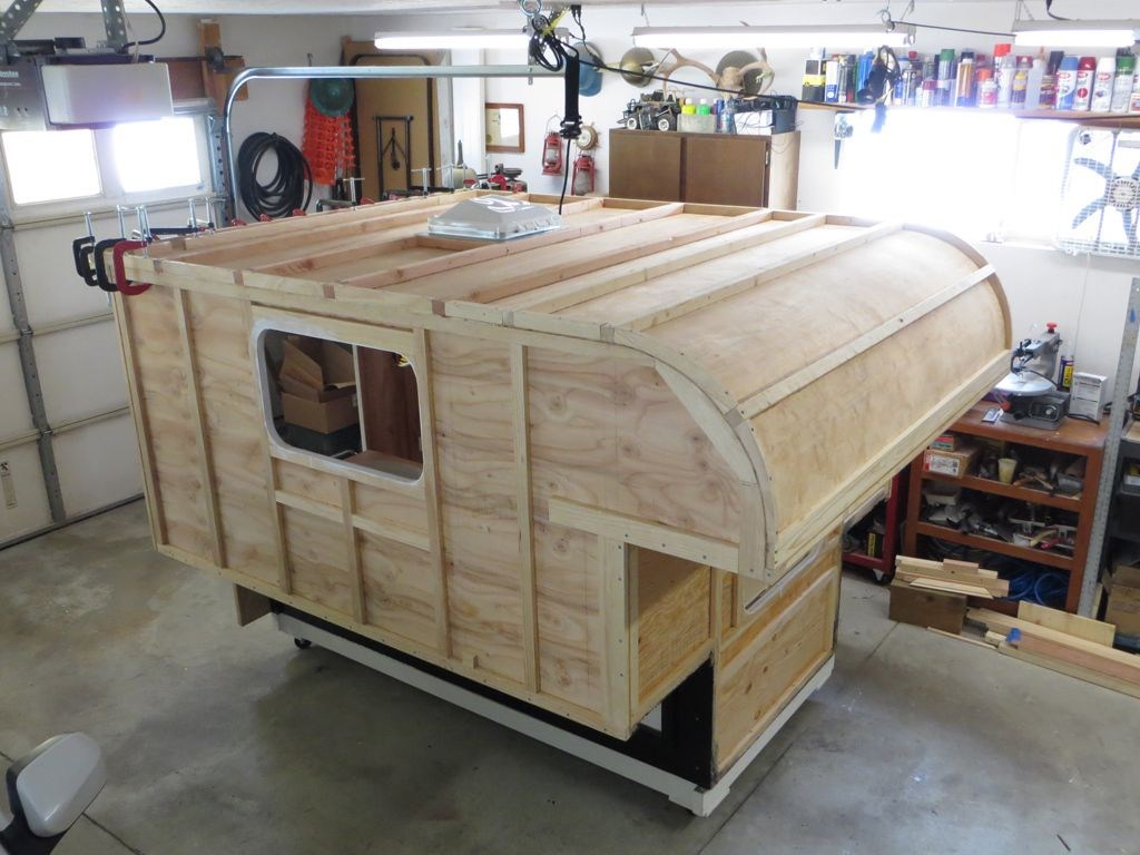 Build your own camper or trailer glen l rv plans page 6 for Cabover house plans