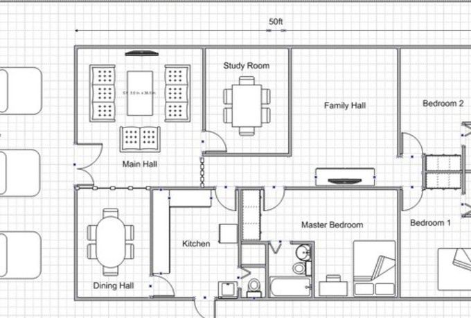 I Will Draw A Simple Floor Plan For Your Dream House