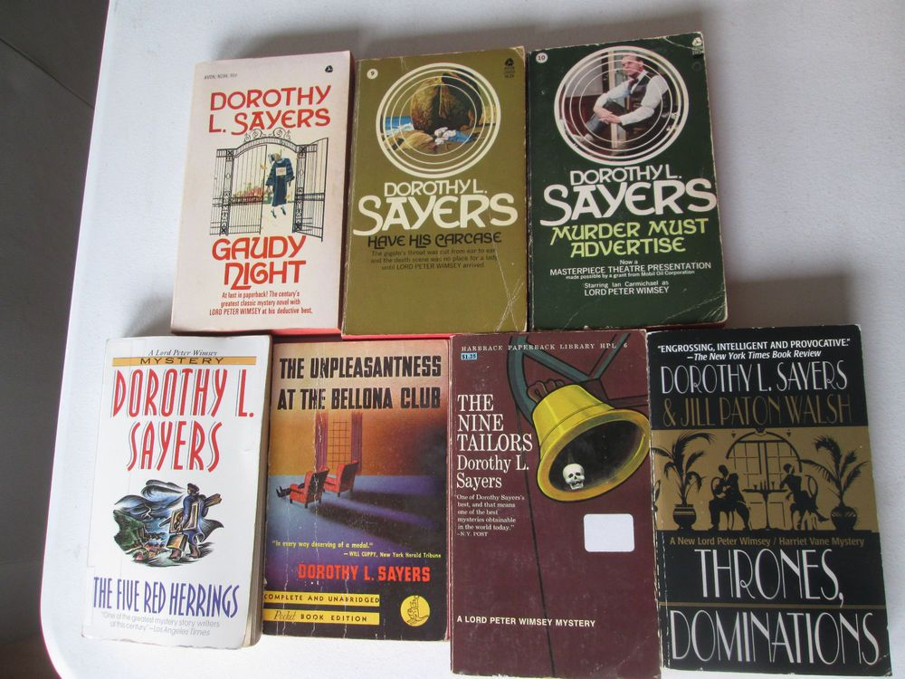 Dorothy sayers lot of 7 mystery paperbacks lord peter