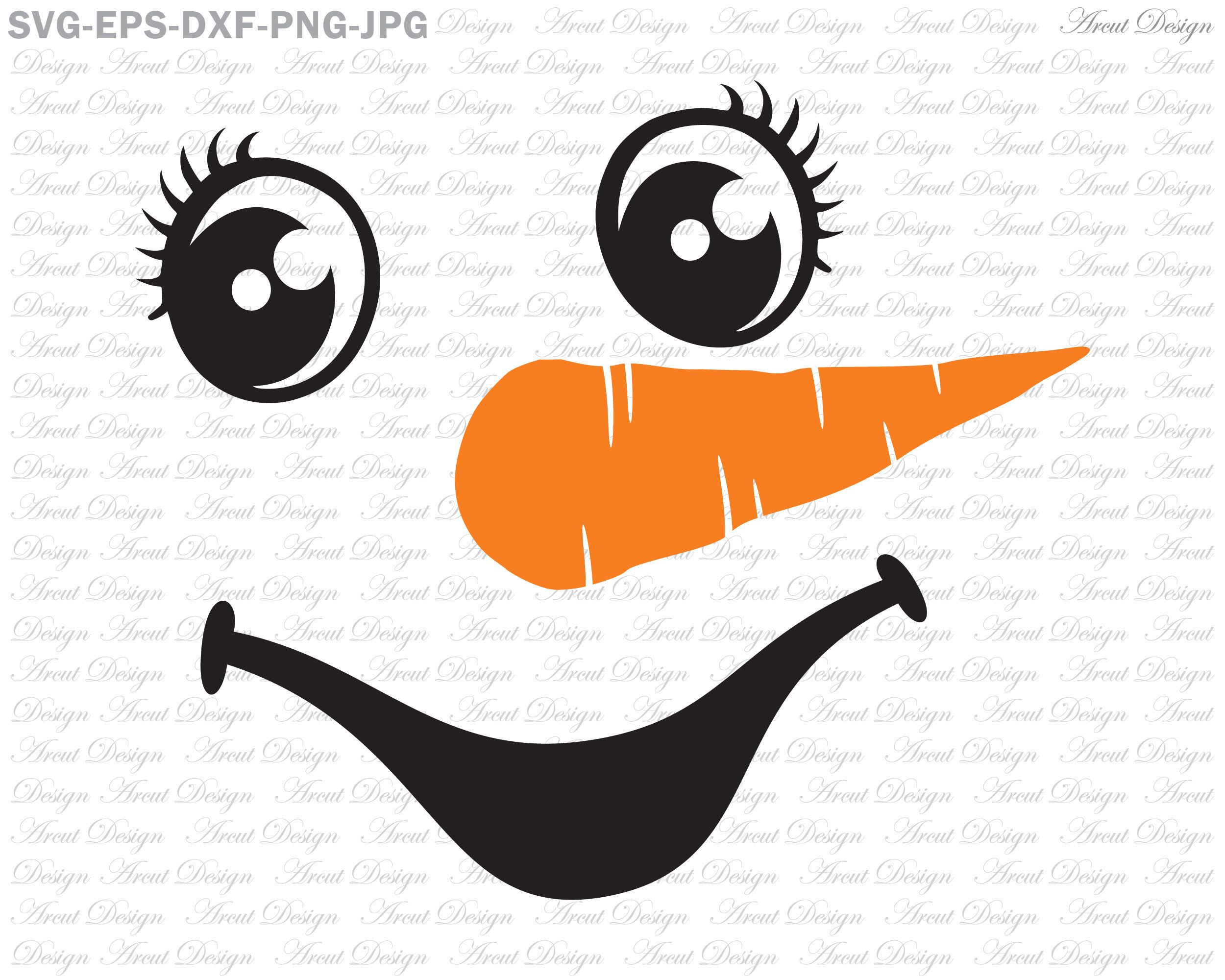 Snowman Face Smile SVG, Christmas Svg, Snowman Face Svg