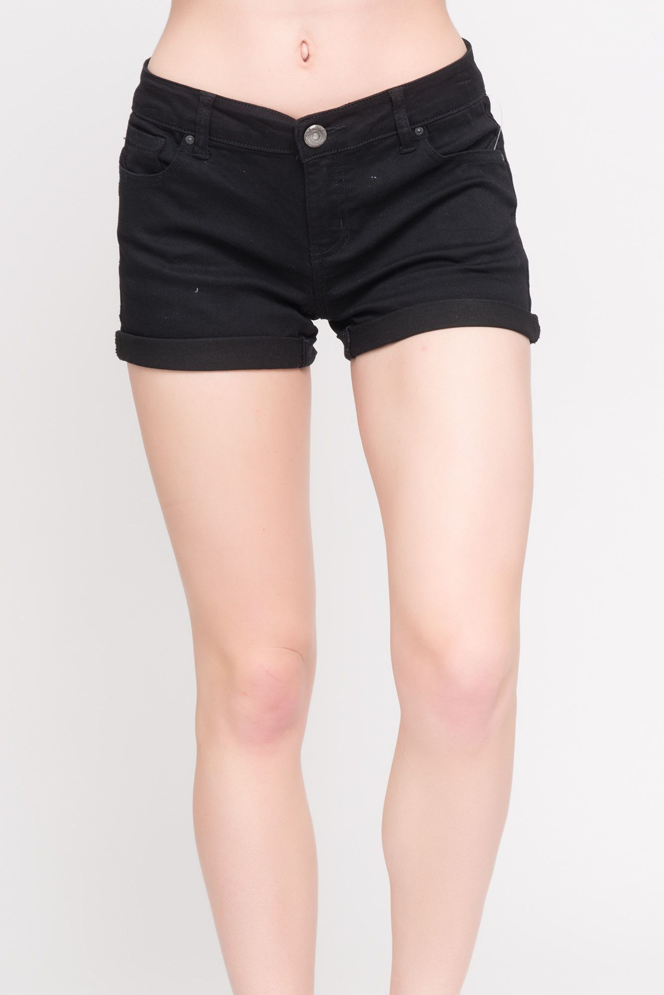 WAX JEANS ROLLED CUFF SHORTS