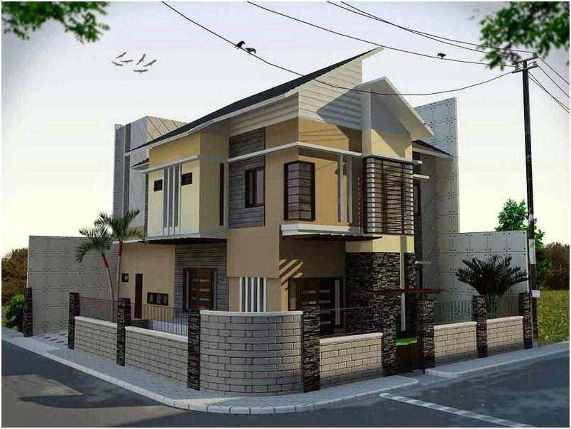 Model Desain Pagar Rumah Minimalis Cantik Batu Alam