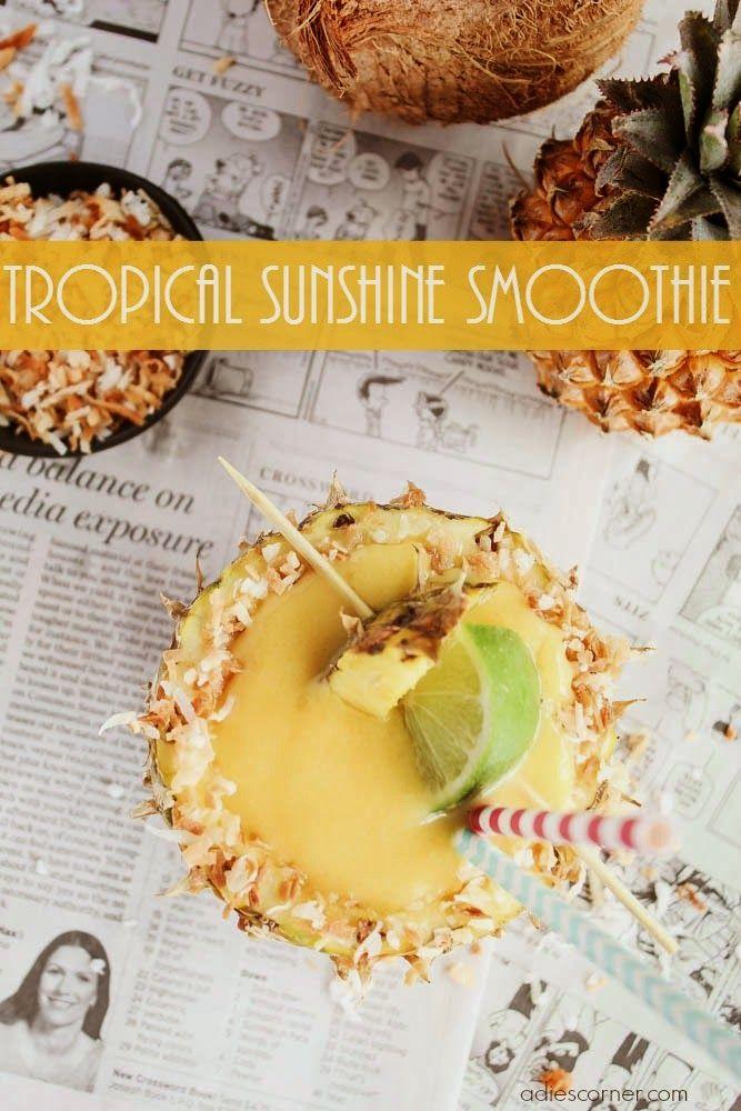 tropical sunshine smoothie