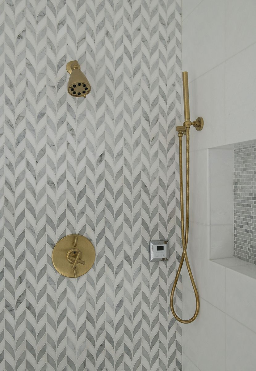 Love This Interesting Take On Chevron Tile Pattern Paired