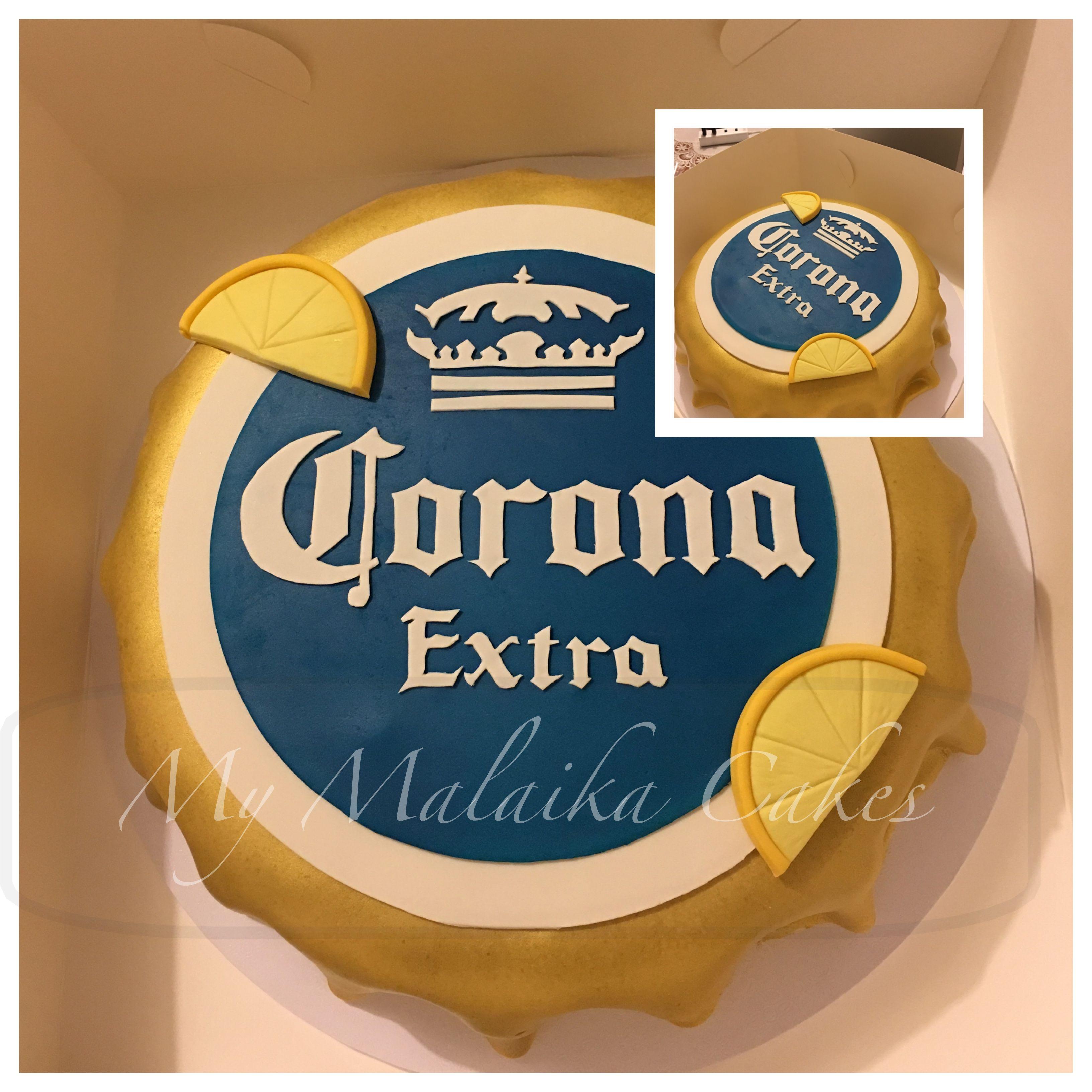 Corona bottle top cake cakes i make fb my malaika cakes