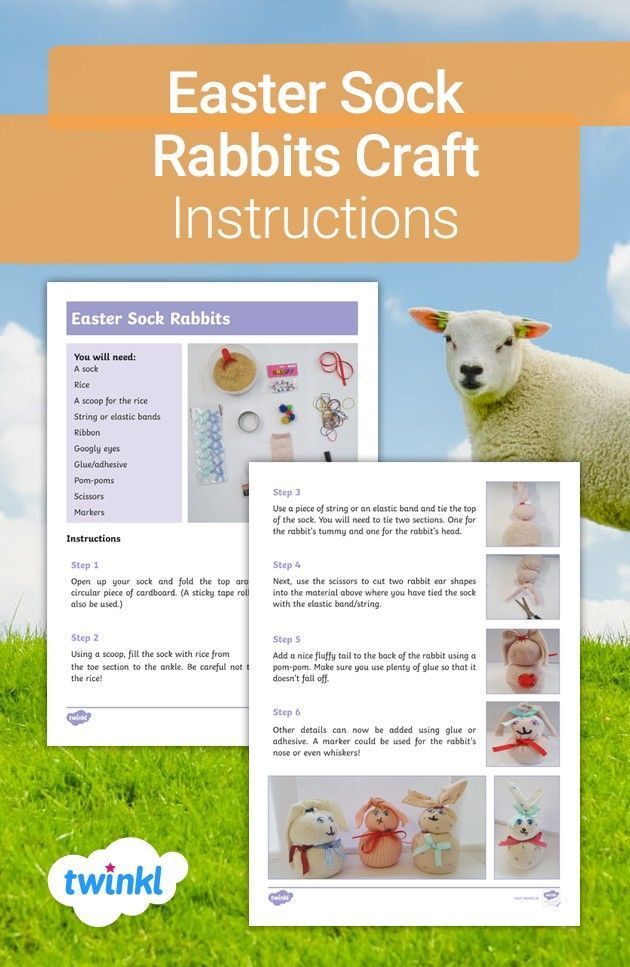 Bring Easter To Your Home With This Fun Craft Activity Have Children Follow The Simple Step By Step Instructions To Create L In 2020 Rabbit Crafts Crafts Ester Crafts
