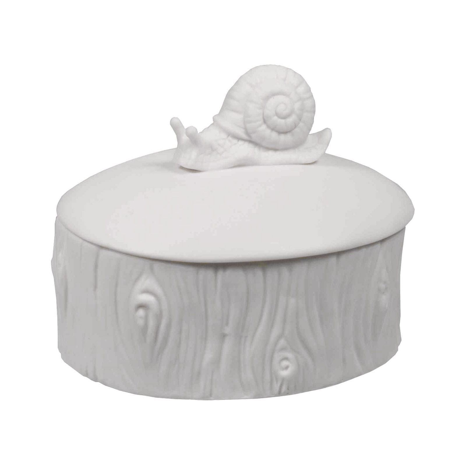 Keep your treasures safe in this porcelain box. An adorable snail sits atop the faux tree trunk, guarding your items while you're away.  Find the Snailed It Keepsake Box, as seen in the Retro Dreaming Collection at http://dotandbo.com/collections/in-style-retro-dreaming?utm_source=pinterest&utm_medium=organic&db_sku=SML0047
