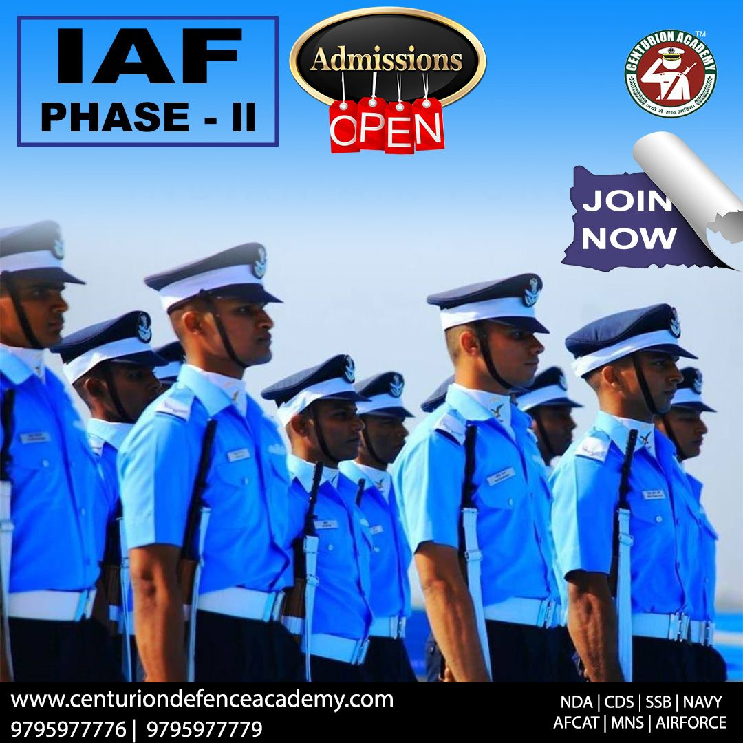 IAF PhaseII Admission Open ! Join Now. Just Call +91