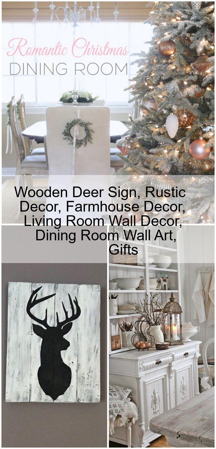 Wooden Deer Sign Rustic Decor Farmhouse Decor Living Room Wall Decor Dining Room Wall Art Art In 2020 Wall Decor Living Room Dining Room Wall Art Rustic Decor #rustic #wall #art #for #living #room