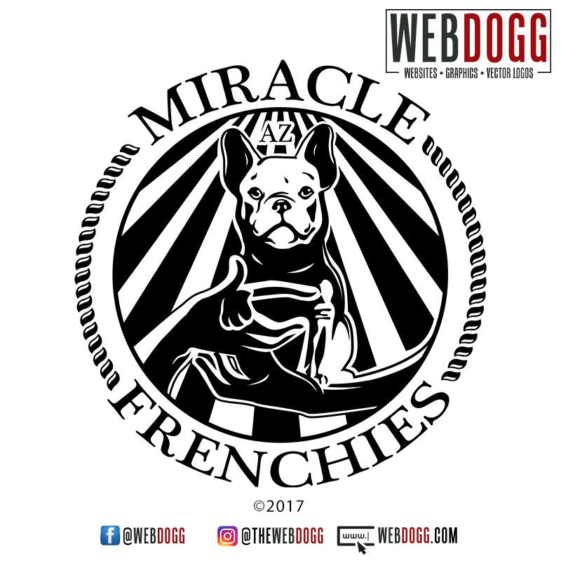 French Bulldog Breeder Logo Design Miracle Frenchies Bulldog