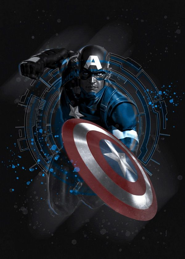 Marvel 80th Anniversary Captain America Displate Posters