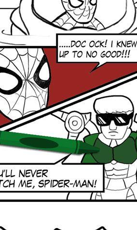 Spider Man Comic Coloring Page Spiderman Comic 1st Grade Activities Kids App